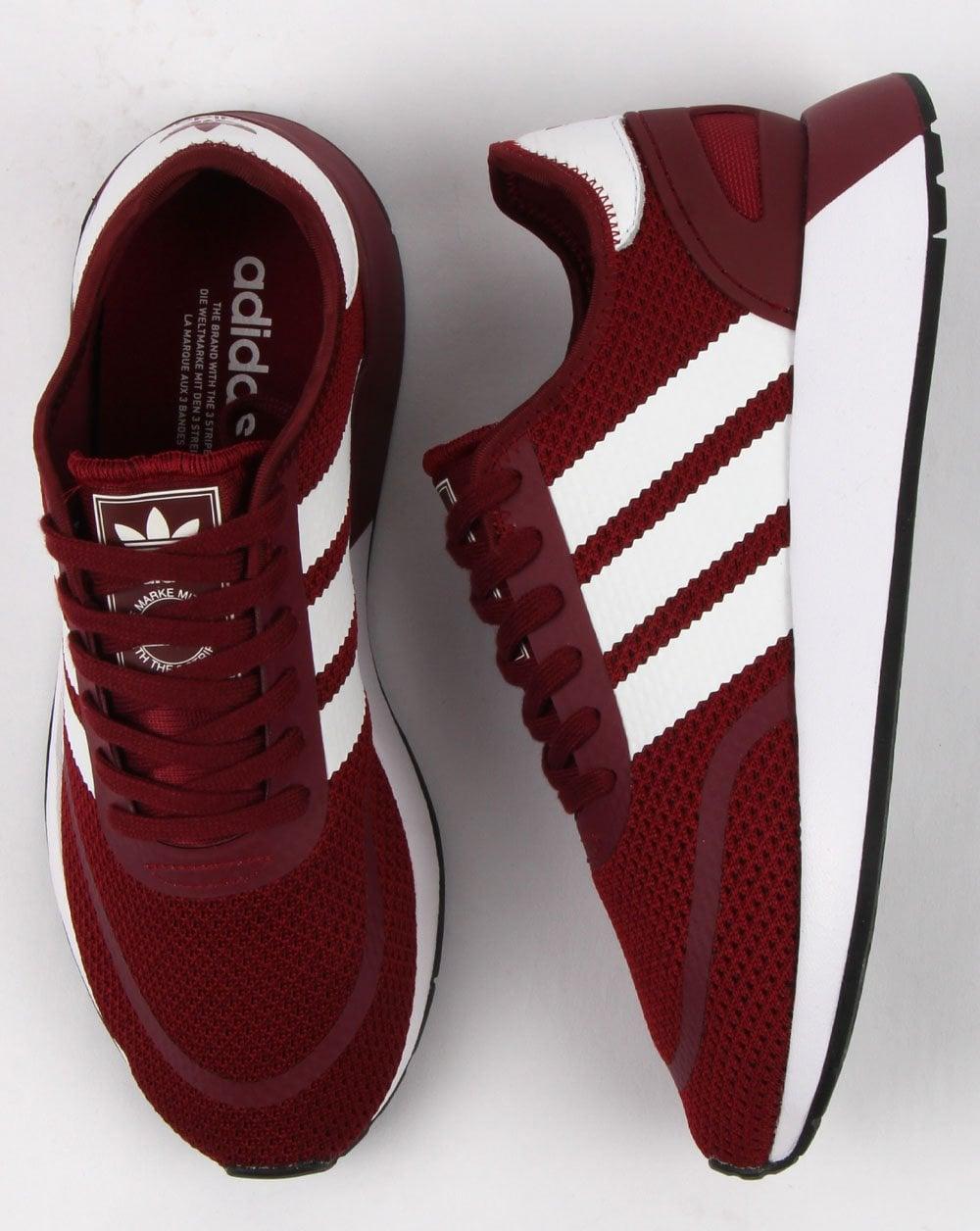 Adidas N 5923 Trainers Collegiate Burgundywhite   80s