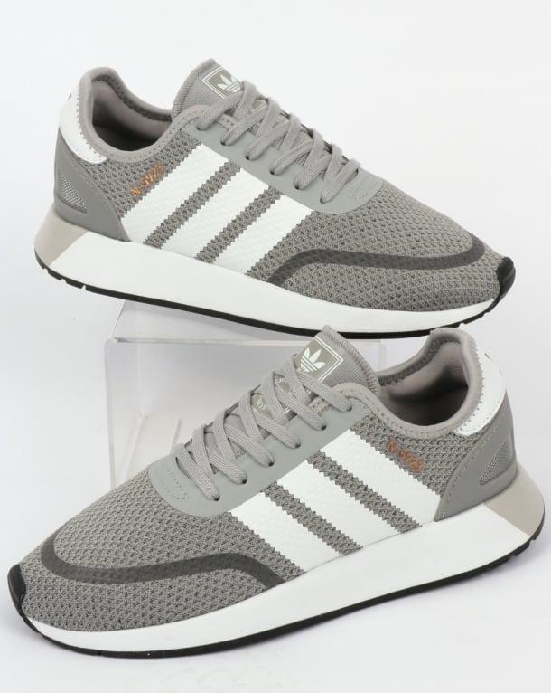 adidas n 5923 di formatori solido grigio / bianco, iniki, runner, '70, scarpe originali
