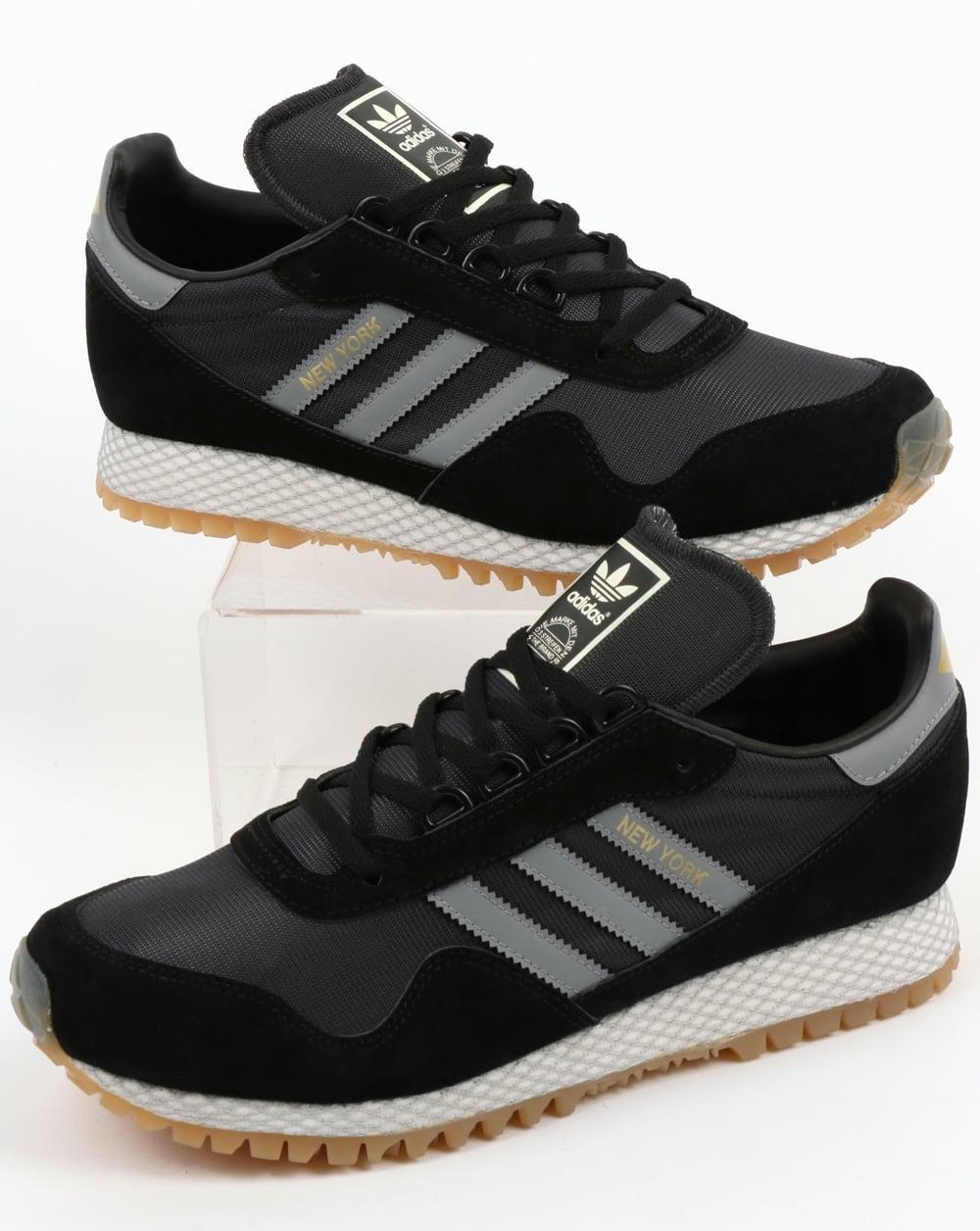 Adidas New York Trainers Black/Grey,OG,shoes,original ...