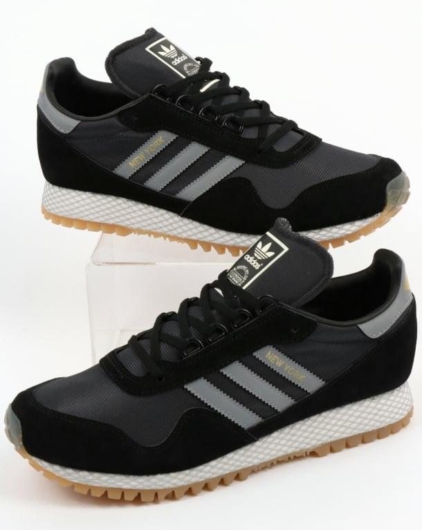 Adidas New York Trainers Black/Grey
