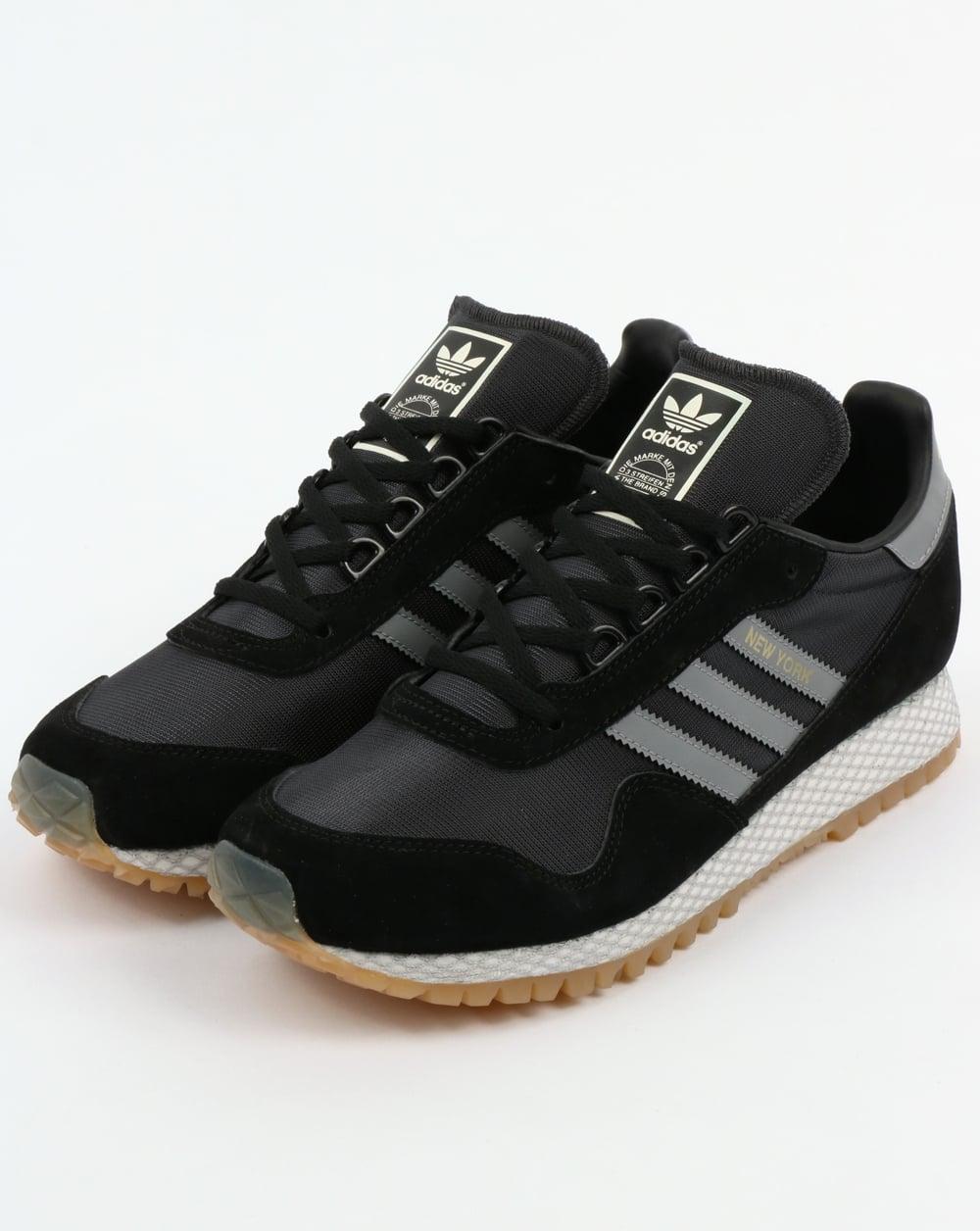 Nombre provisional Correa Centro de la ciudad  Adidas New York Trainers Black/Grey | 80s casual classics