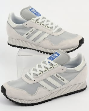 adidas Trainers Adidas New York Trainers Crystal White/Grey
