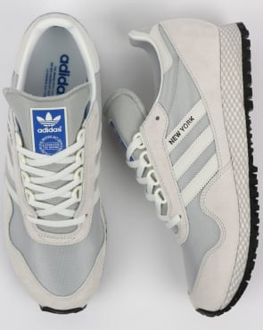 Adidas New York Trainers Crystal White/Grey