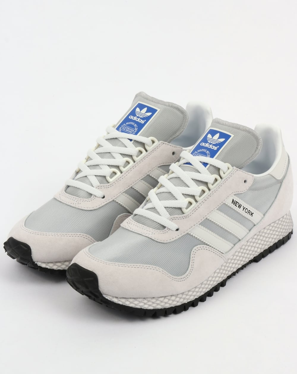 9868ab20fb8c7b adidas Trainers Adidas New York Trainers Crystal White Grey