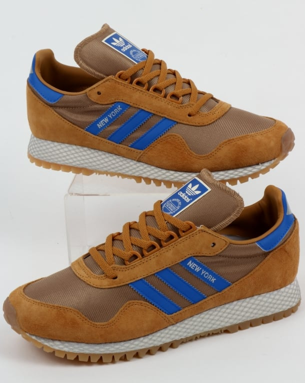 Adidas Trainers Adidas New York Trainers Rich Tan/Blue