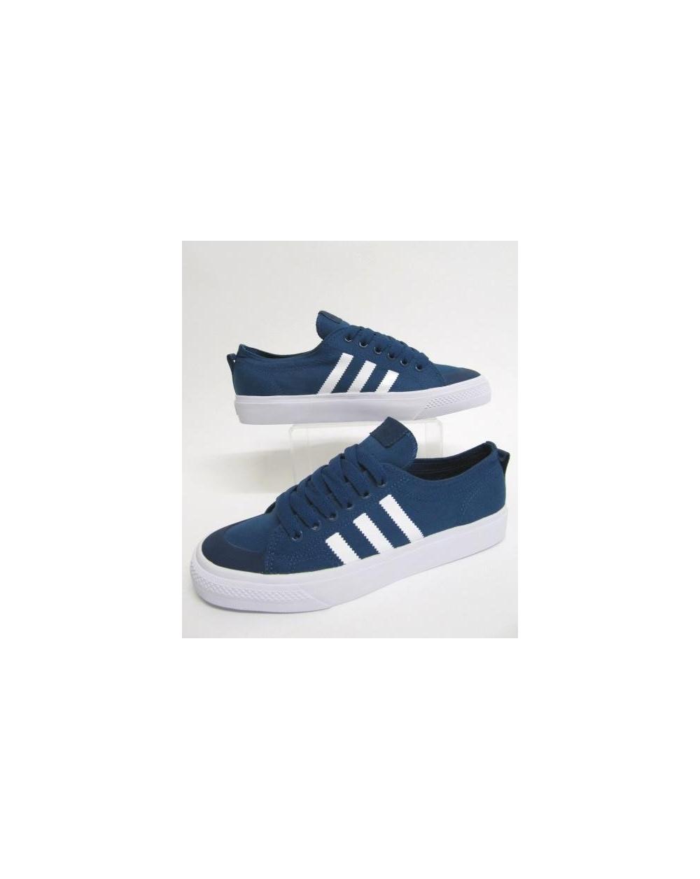 adidas OriginalsNIZZA - Trainers - bright blue/footwear white 6QImSXD