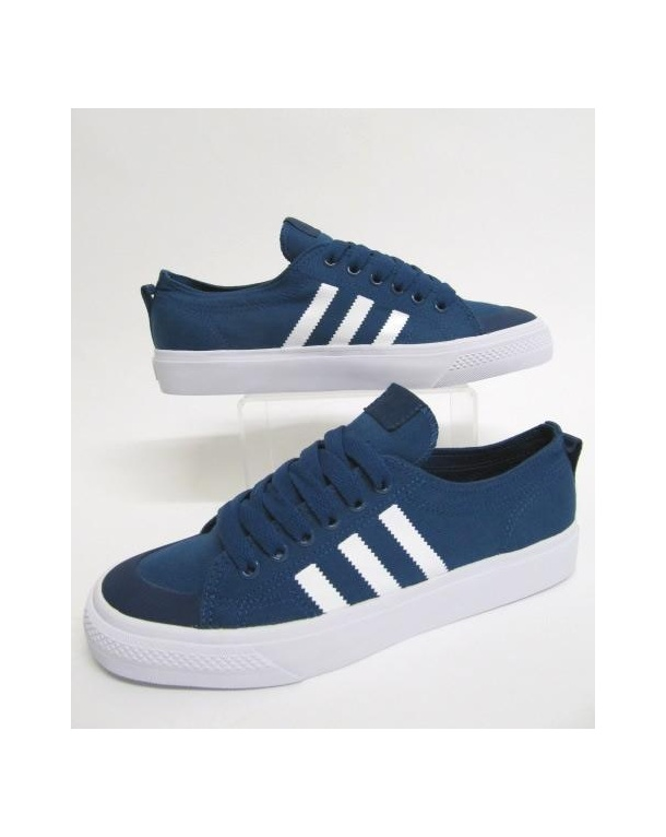 adidas Originals NIZZA - Trainers - bright blue/footwear white