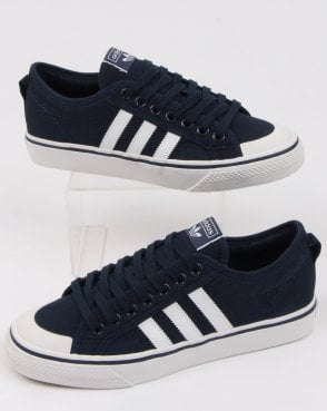 adidas Trainers Adidas Nizza Trainers Navy/white