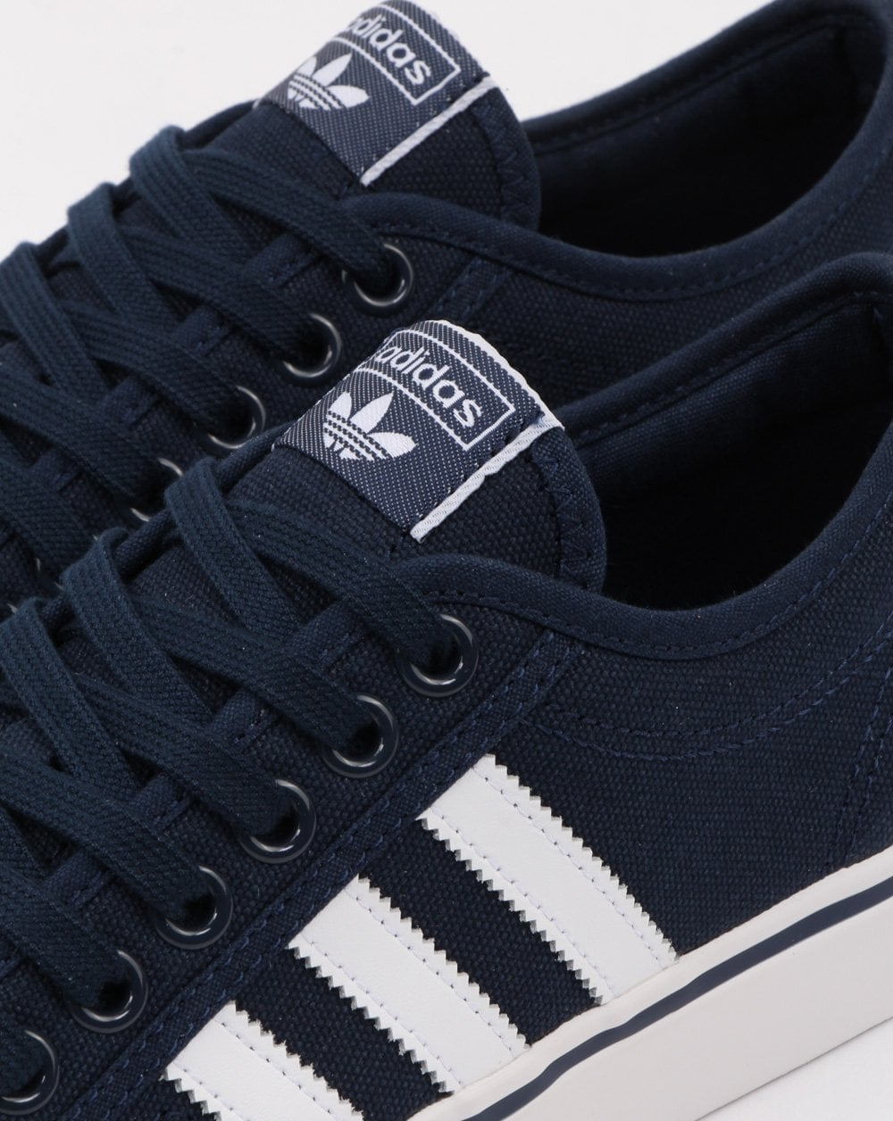 Adidas Nizza Trainers in Navy/White