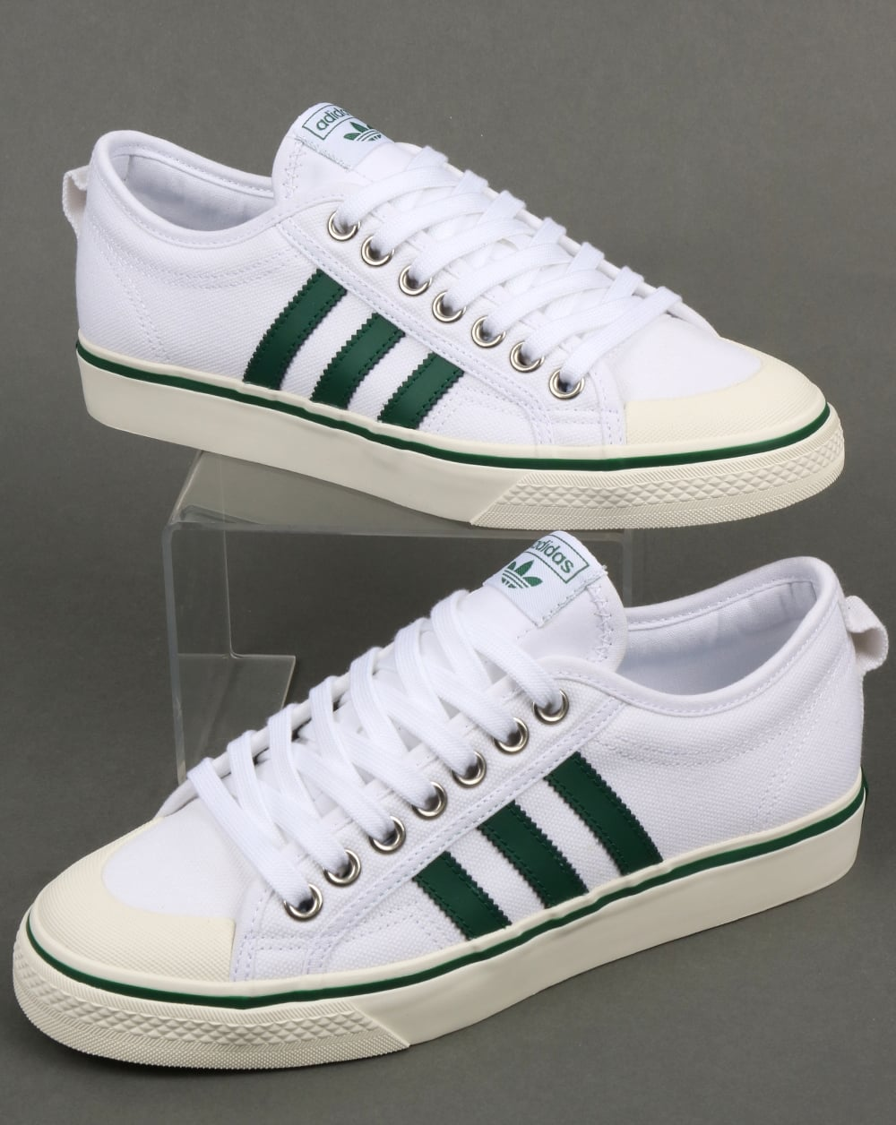 the best attitude 91718 cc29b adidas Trainers Adidas Nizza Trainers White Green