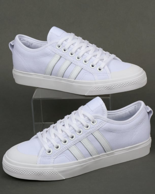 Adidas Nizza Trainers White