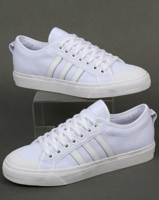 Adidas Nizza Trainers White