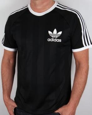 Adidas Originals Adidas Old Skool 3 stripe T-Shirt Black
