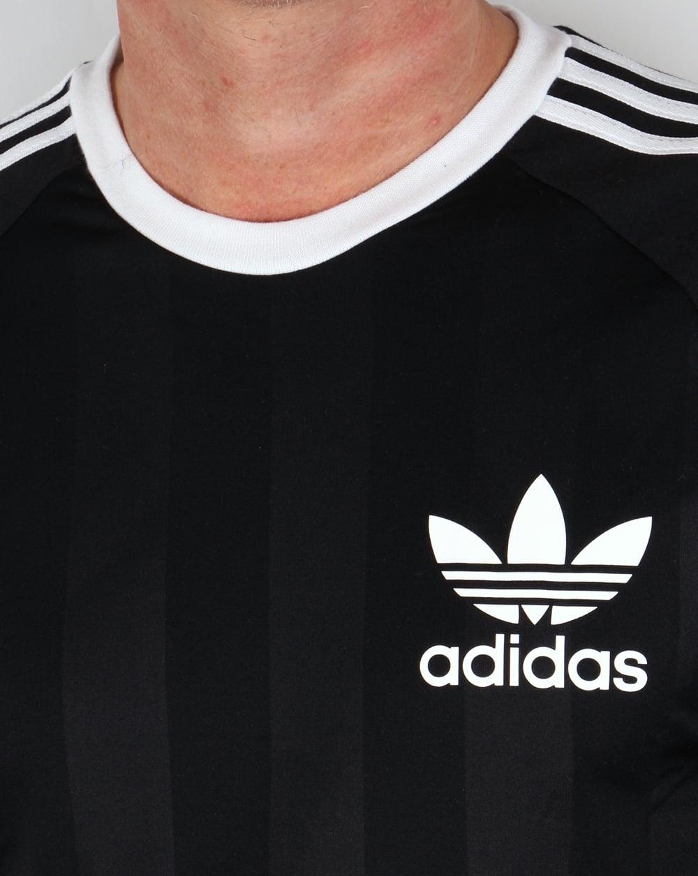 adidas 3 stripes ringer t shirt