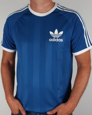Adidas Originals Adidas Old Skool 3 stripe T-shirt Royal Blue
