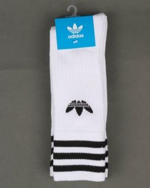 Adidas Originals 3 Pack Crew Socks White/Black
