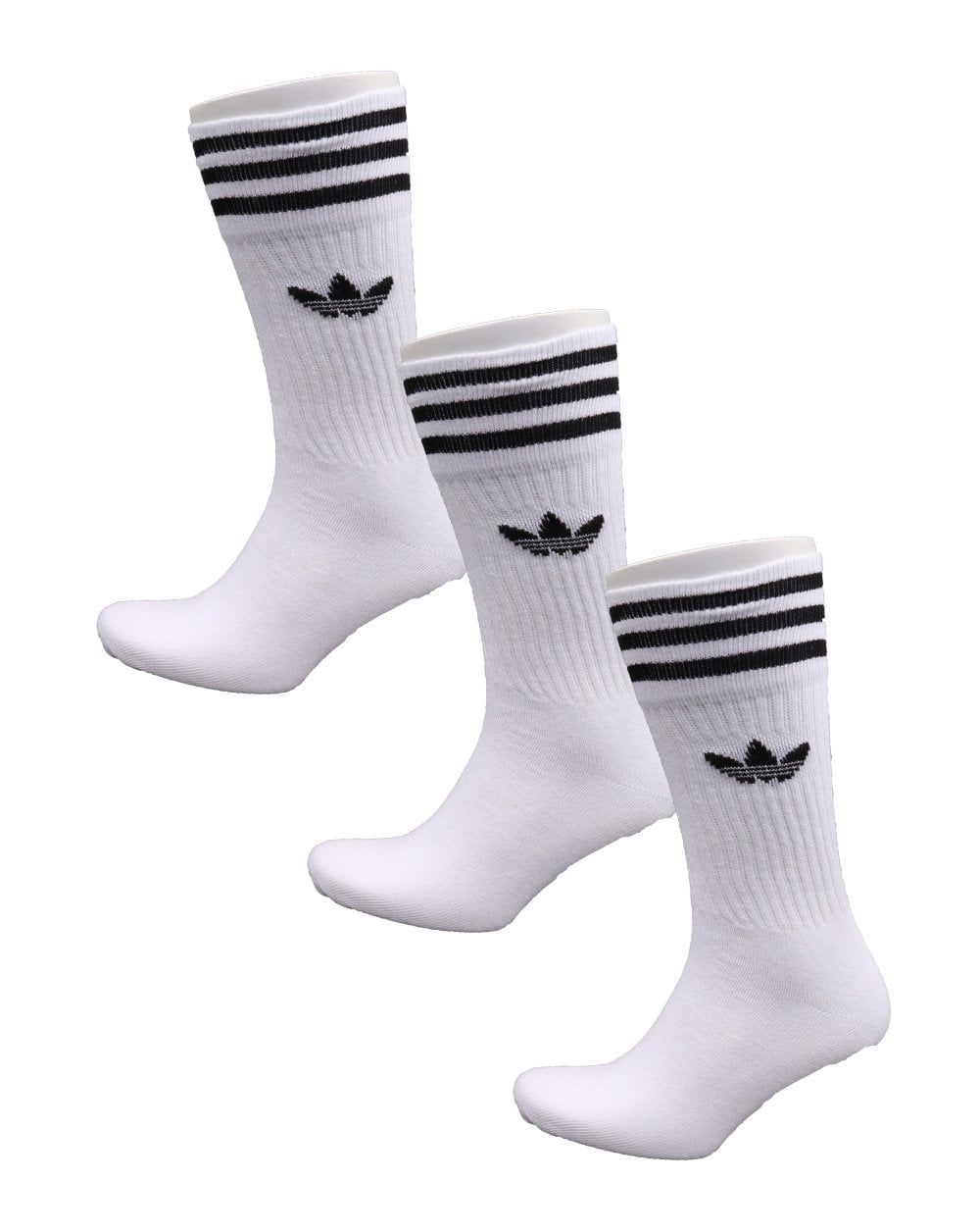 Hummel Three Pack Crew Socks White//Black All Sizes NEW