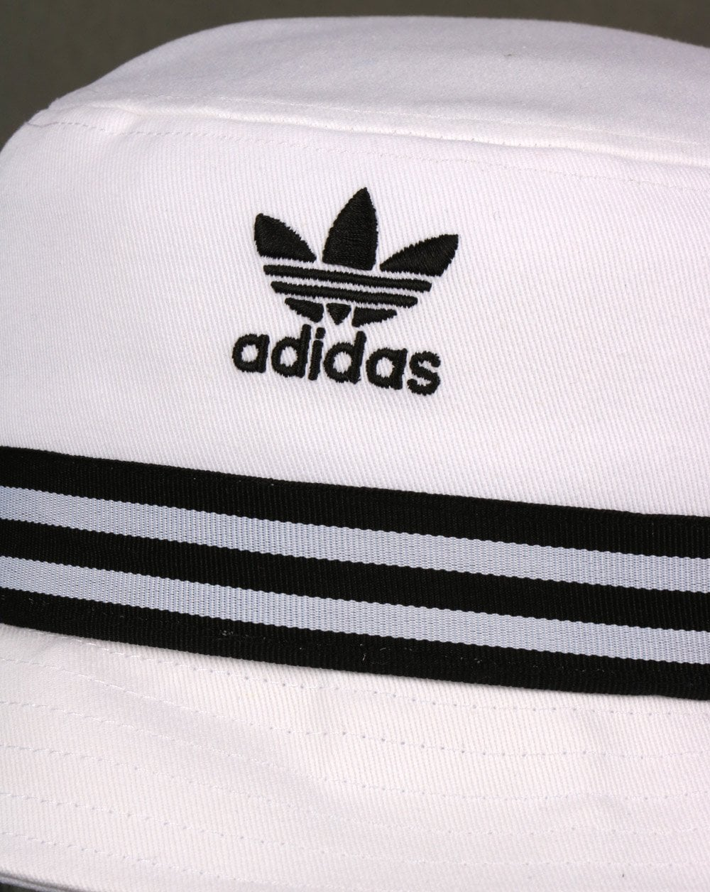 c630fba9b3f ... wholesale adidas originals 3 stripe band bucket hat white black 102a2  d8015