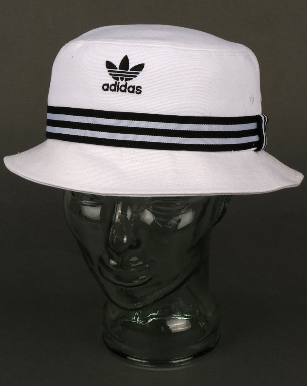 d2bf79bd6 Adidas Originals 3 Stripe Band Bucket Hat White/black, Mens, Festival