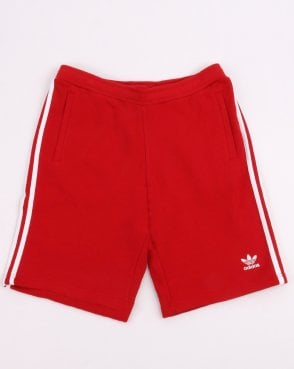 442b4b81a42c Adidas Originals 3 Stripe Shorts Power Red