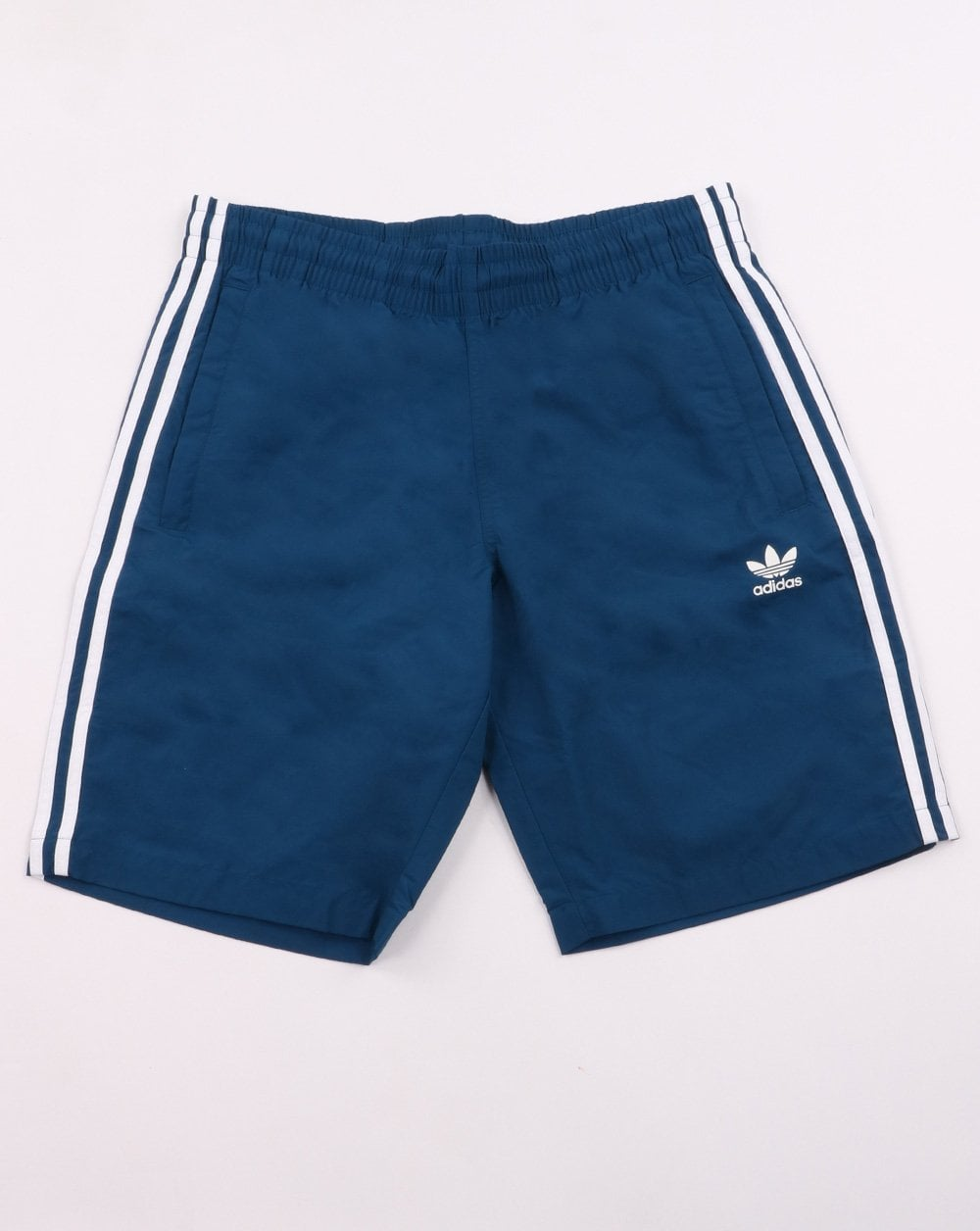 b74327da62 adidas Originals Adidas Originals 3 Stripe Swim Shorts Deep Blue