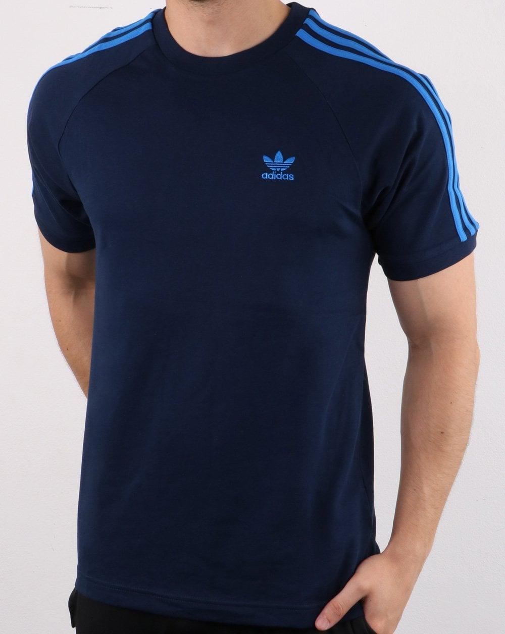 Adidas Originals 3 Stripe T Shirt Collegiate Navy