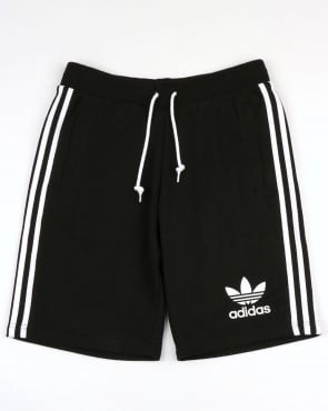 Adidas Originals 3 Striped Shorts Black
