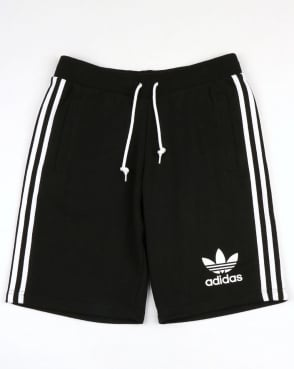 Adidas Originals 3 Striped Shorts Black