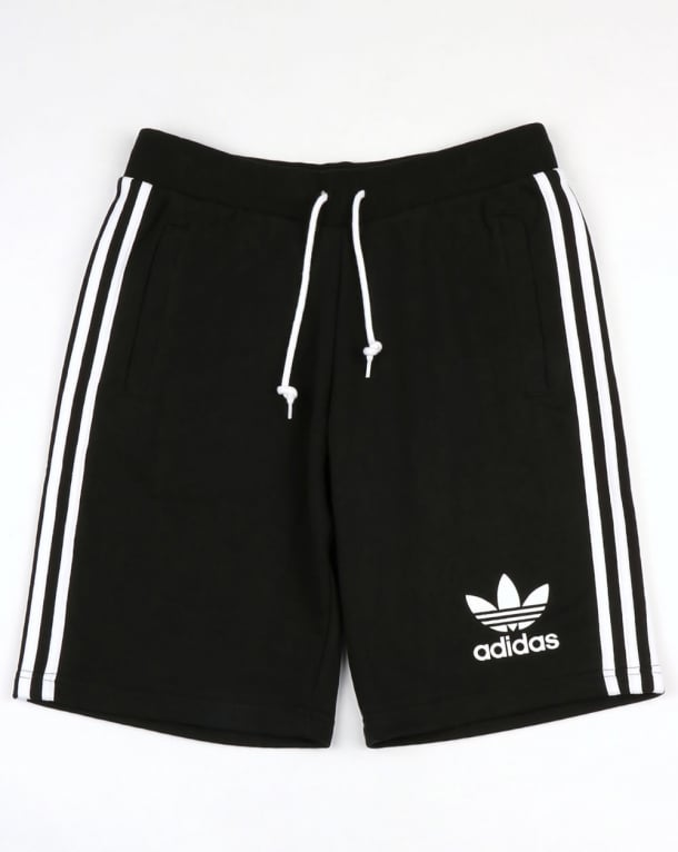 Adidas Originals 3 Striped Shorts Black/White