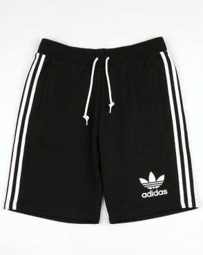 Adidas Originals 3 Striped Shorts Black/White