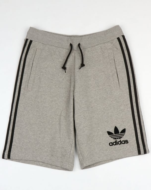 Adidas Originals 3 Striped Shorts Grey