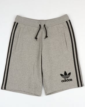 Adidas Originals 3 Striped Shorts Grey