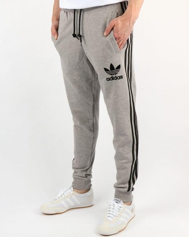 Adidas Originals 3 Striped Track Pants Grey Heather Jogger