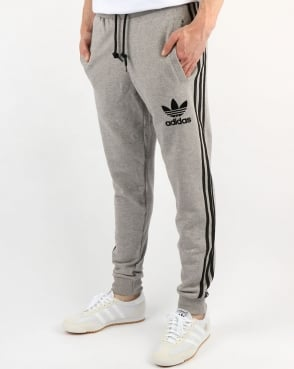 Adidas Originals 3 Striped Track Pants Grey Heather