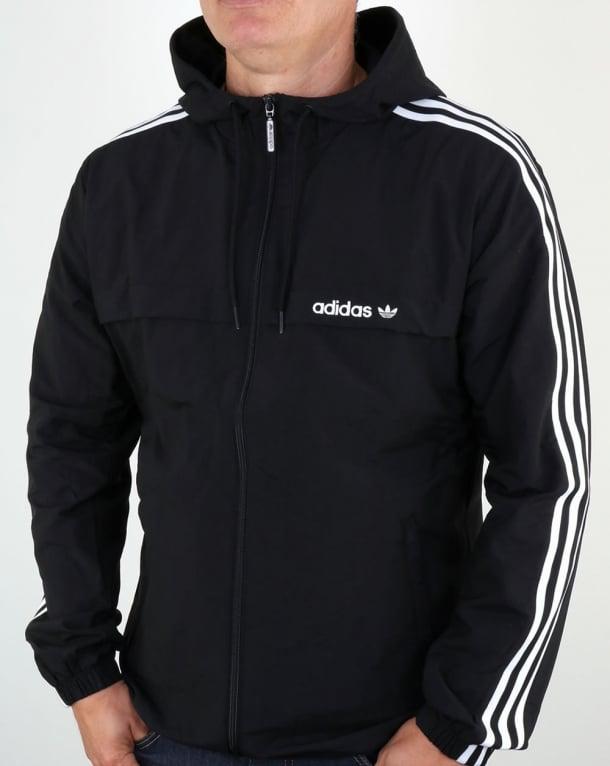 Adidas Originals 3 Striped Windbreaker Black