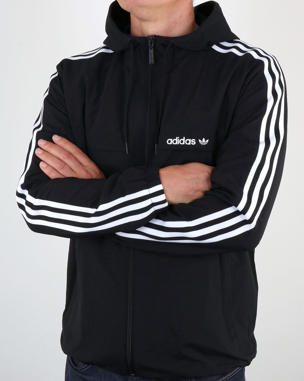 adidas Originals Mens 3 Stripes Full Zip Hoodie