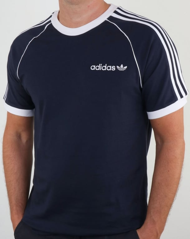 Adidas originals os cali t shirt legend ink ringer tee for Adidas ringer t shirt