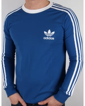 Adidas Originals 3 Stripes Long Sleeve T-shirt EQT Blue