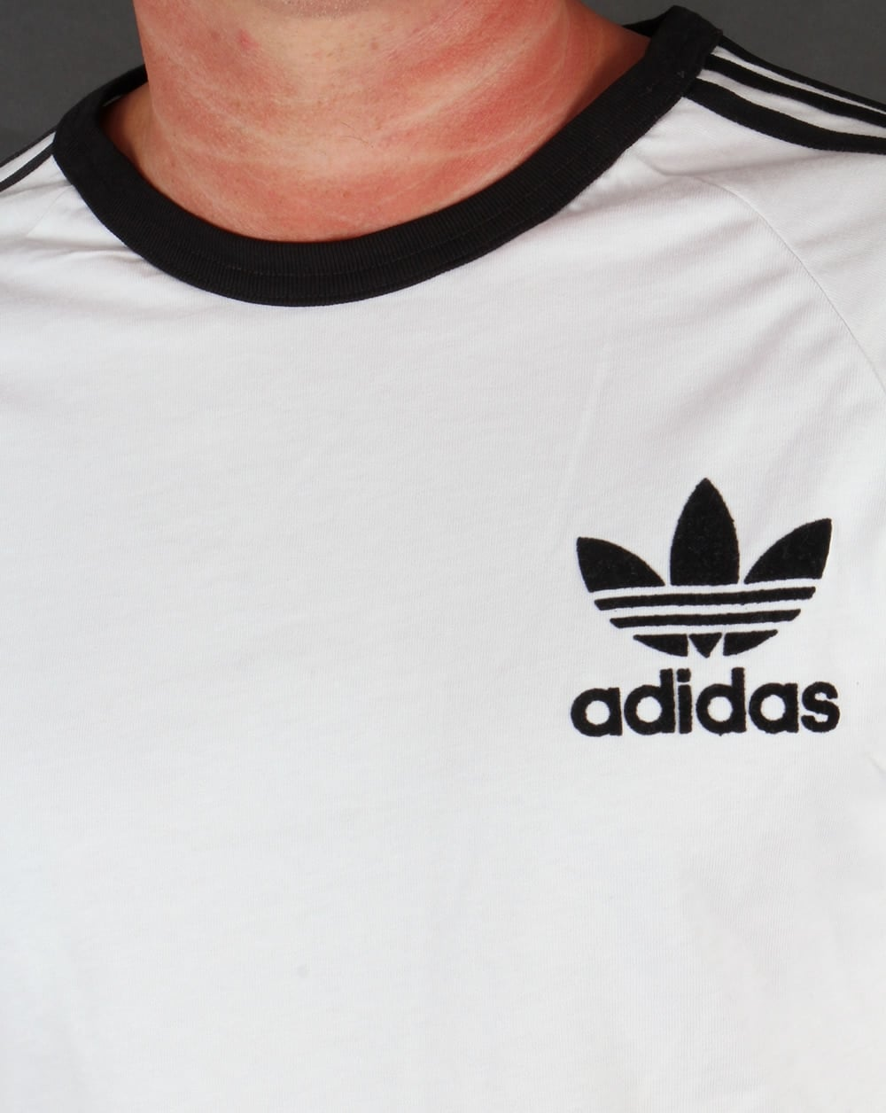 Adidas t shirt black white - Adidas Originals 3 Stripes Oversized Long Sleeve T Shirt White Black
