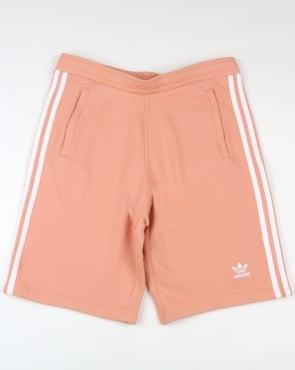 Adidas Originals 3 Stripes Shorts Dust Pink