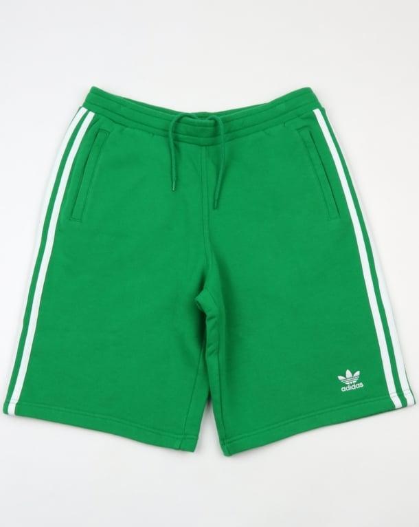 Adidas Originals 3 Stripes Shorts Green