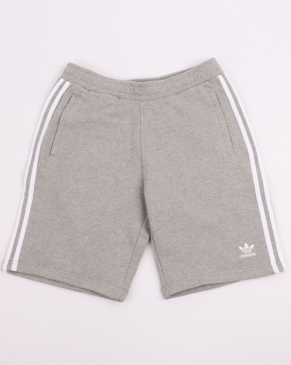 Adidas Originals 3 Stripes Shorts Grey Heather