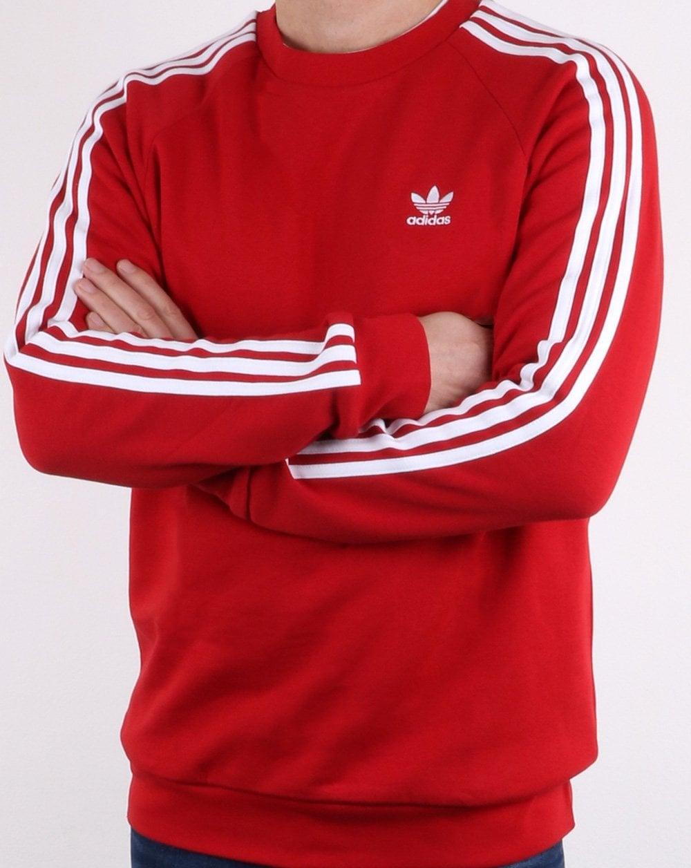 25ee434263bfc adidas Originals Adidas Originals 3 Stripes Sweat Red