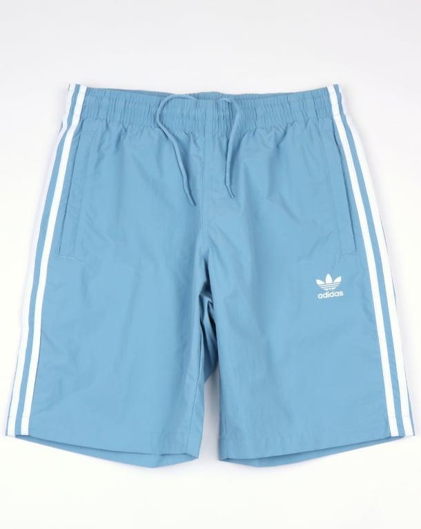 Adidas Originals 3 Stripes Swim Shorts Ash Blue