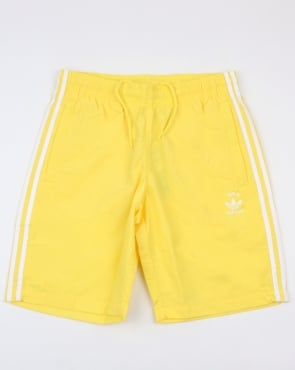 Adidas Originals 3 Stripes Swim Shorts Intense Lemon