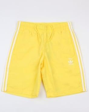 Adidas Originals 3 Stripes Swim Shorts Intense Lemon