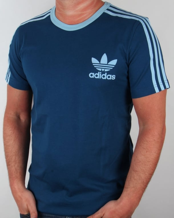 Adidas Originals 3 Stripes T-shirt Blue/Clear Blue