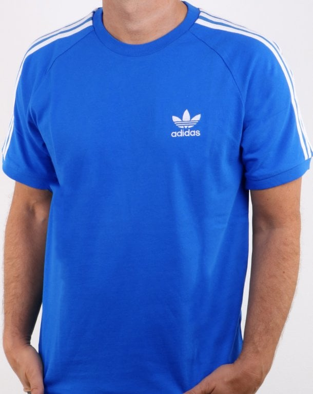 Adidas Originals 3 Stripes T Shirt Bluebird
