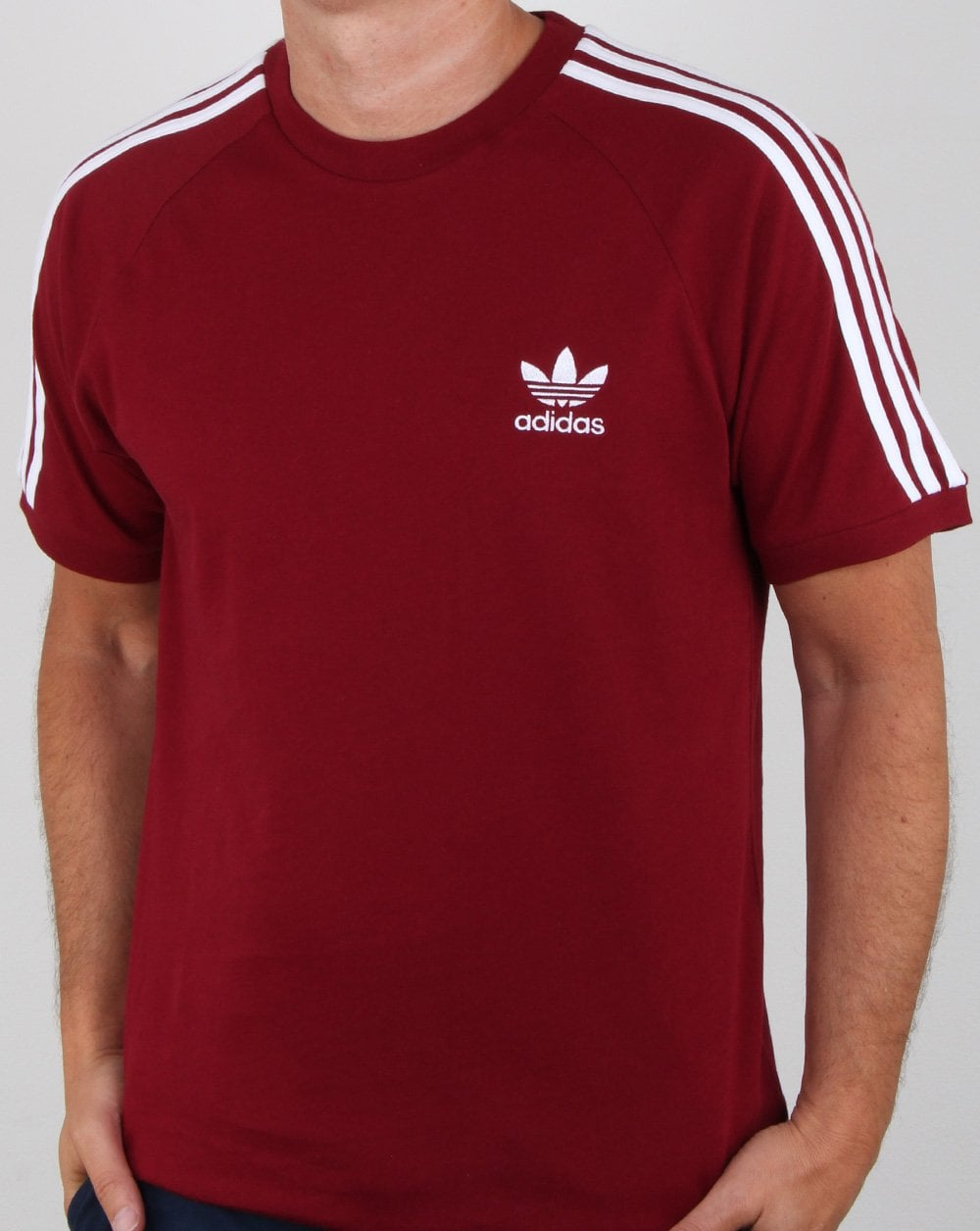 Adidas Originals 3 Stripes T shirt Collegiate Burgundy