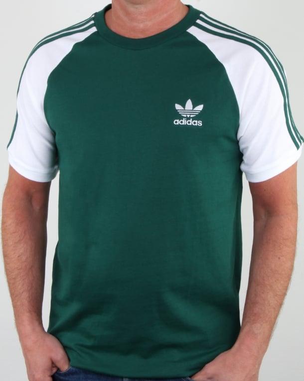 Adidas Originals 3 Stripes T Shirt DP Green/White